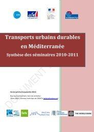 Transports urbains durables en Méditerranée - CMI