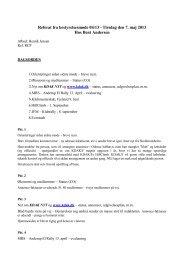 Referat fra det seneste bestyrelsesmøde - nr. 4 / 2013