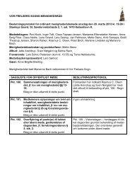 Referat af møde den 20. marts 2013 - Vor Frelsers Kirke