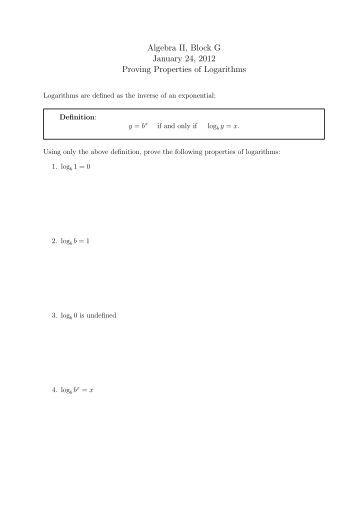 Properties Of Logarithms Worksheet : Katinabags.com