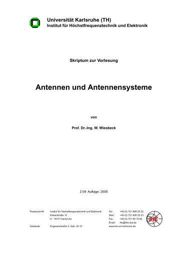 Antennen und Antennensysteme