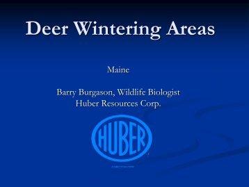 Deer Wintering Areas - School of Forest Resources