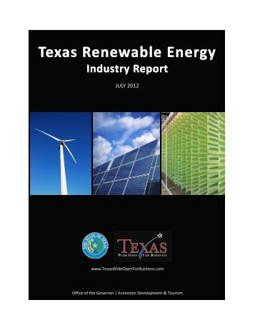 Texas Renewable Energy Texas Renewable Energy - Office of the ...