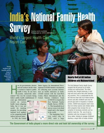 India's National Family Health Survey (SPAN)
