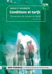 Conditions et tarifs - BNP Paribas