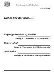 Det er her det sker……. - Socialdemokraterne i Vallensbæk
