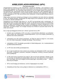 Orientering om arbejdspladsvurdering