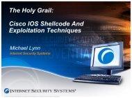 The Holy Grail: Cisco IOS shellcode And Exploitation ... - SecurityVulns