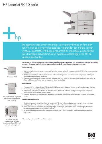 HP LaserJet 9050 serie - VB