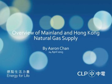 Overview of Mainland and Hong Kong Natural Gas Supply - Near You