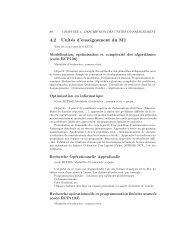 brochure des enseignements du M1 - Unité de Mathématiques ...