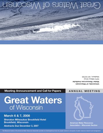 Call for Papers - American Water Resources Association