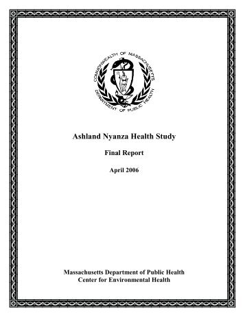 Ashland Nyanza Health Study - Final Report