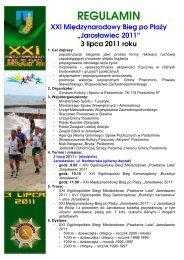 MBpP 2011 - regulamin - Centrum Kultury i Sportu w Postominie