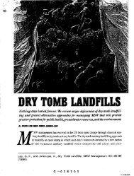 DRY TOMB LAND'FILLS