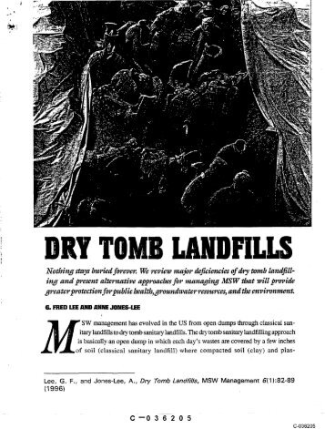 DRY TOMB LAND'FILLS