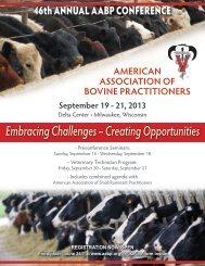 Program - American Association of Bovine Practitioners