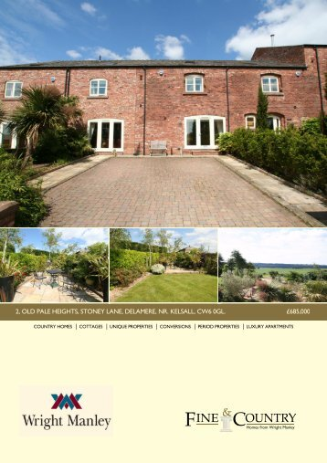 2, old pale heights, stoney lane, delamere, nr ... - Fine & Country