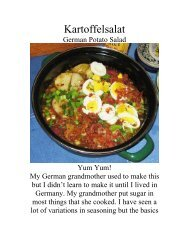 Kartoffelsalat - The Geriatric Gourmet