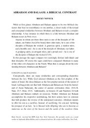 abraham and balaam: a biblical contrast - Jewish Bible Quarterly