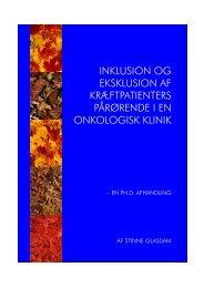 inklusion og eksklusion af kræftpatienters ... - skeptron.uu.se
