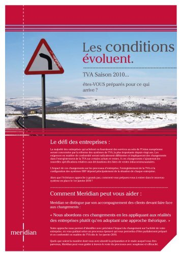 Les conditions - Meridian Global Services