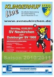 Stadionheft Nr.12 - SV Neukirchen - SV Neukirchen 21 e.V.