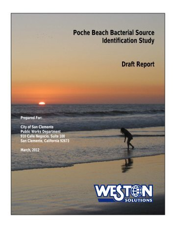 Poche Beach Bacterial Source Identification Study Draft Report