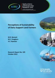 Perceptions of sustainability of dairy support land farmers - Lincoln ...