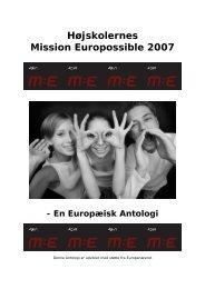 Mission Europossible – af Anna Bundgaard Grundtvigs Højskole