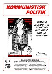 Kommunistisk Politik 6, 2009