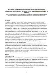 1 Betydningen af præoperativ CT skanning for ... - Plastik-instruksen