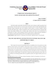Gümüşhane Üniversitesi Sosyal Bilimler Elektronik Dergisi Sayı 2 ...