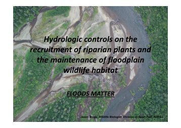 Hydrologic controls on the recruitment of riparian plants and the ...