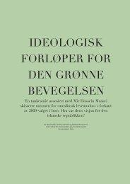 ideologisk forløper for den grønne bevegelsen - Babylon