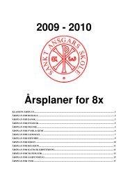 2009 - 2010 Årsplaner for 8x