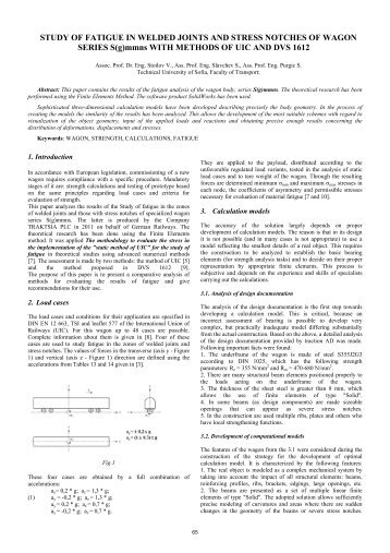 STUDY OF FATIGUE IN WELDED JOINTS AND STRESS NOTCHES ...