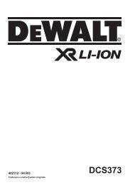 DCS373 - Service - DeWalt