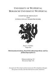 Mittelstandsentwicklung, BASEL-II-Kreditmarktprobleme und ... - EIIW
