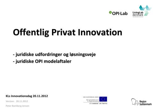 Offentlig Privat Innovation, OPI LAB - KLK