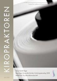 kiropraktoren nr.5 2008 - Dansk Kiropraktor Forening