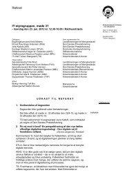 Referat af møde 31, 23. januar 2012 - Kirkenettet