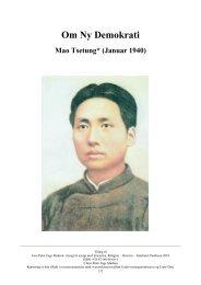 Mao Zedong: Om nyt demokrati, 1940 - PÅ SPORET AF KINA www ...