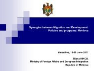 Synergies between Migration and Development. Policies and ...