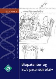 Biopatenter og EUs patentdirektiv – åpent møte - Bioteknologinemnda