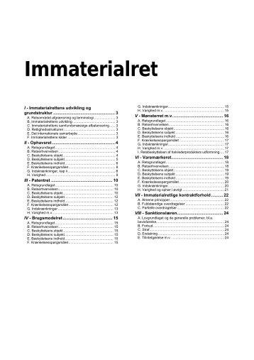 Immaterialret - RASMUSSEN / Data