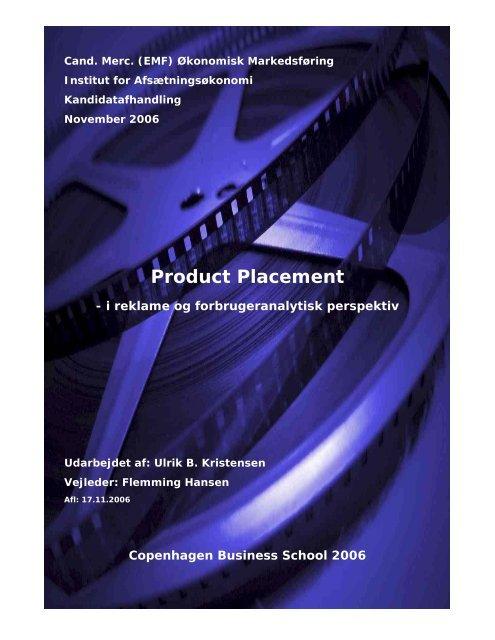 Product Placement - UBK.dk