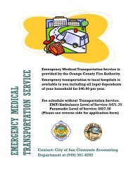 emergency medical transportation service - City of San Clemente