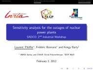 Sensitivity analysis for the outages of nuclear power plants - SADCO ...