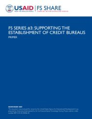Credit Bureaus_PRIMER.pdf - Economic Growth - usaid